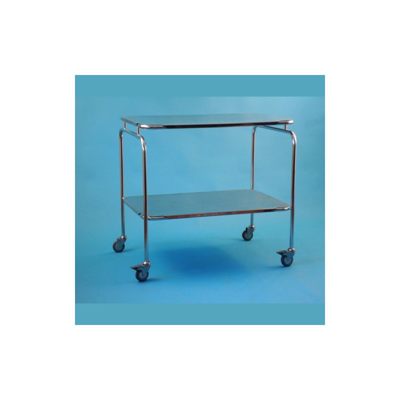 Nerezový stolík veľký s policou