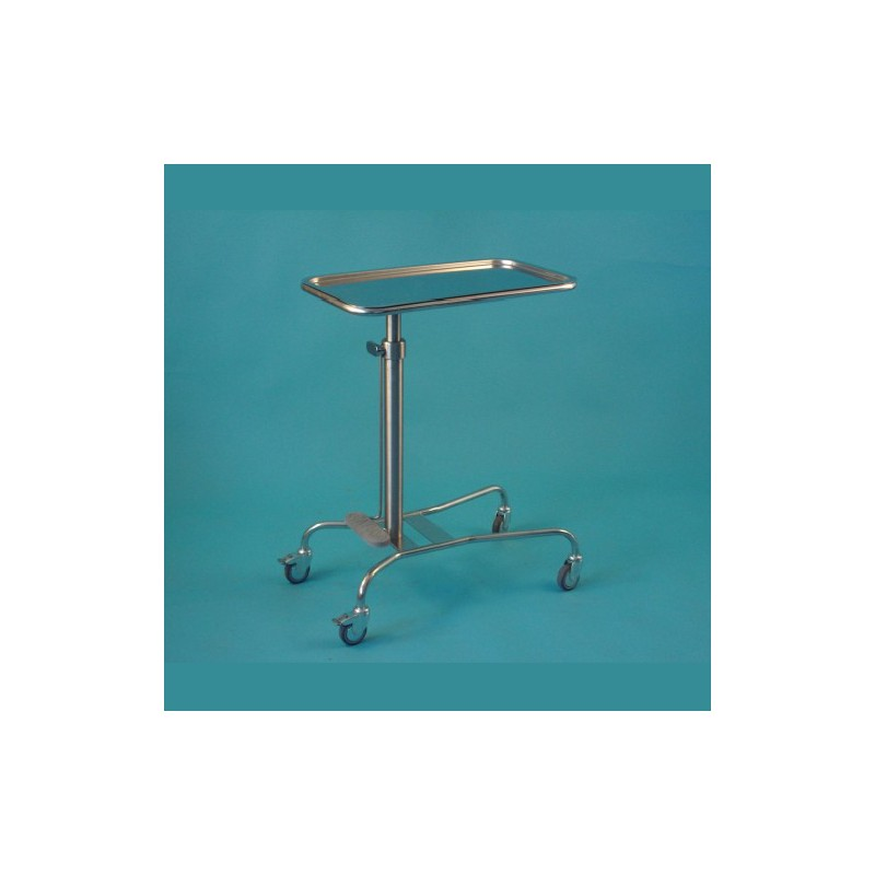 Nerezový stolík nastaviteľný