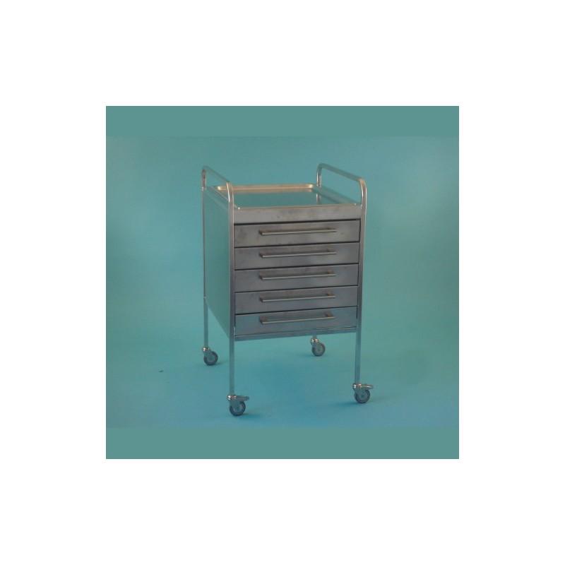 Stolík UNI nerezový s 5 zásuvkami 10+cm