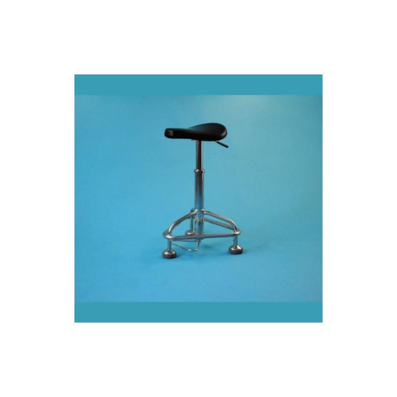 Sedadlo pre lekárov, výškovo nastaviteľné, konštrukcia nerezová