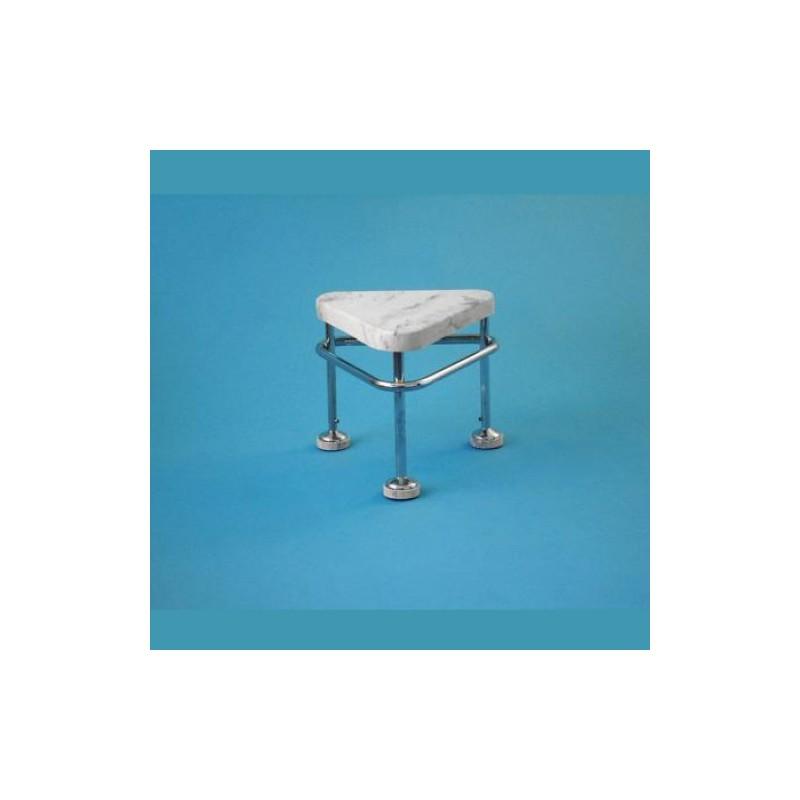 Pojazdná stolička, výška 400 mm, kostra nerezová antistatická