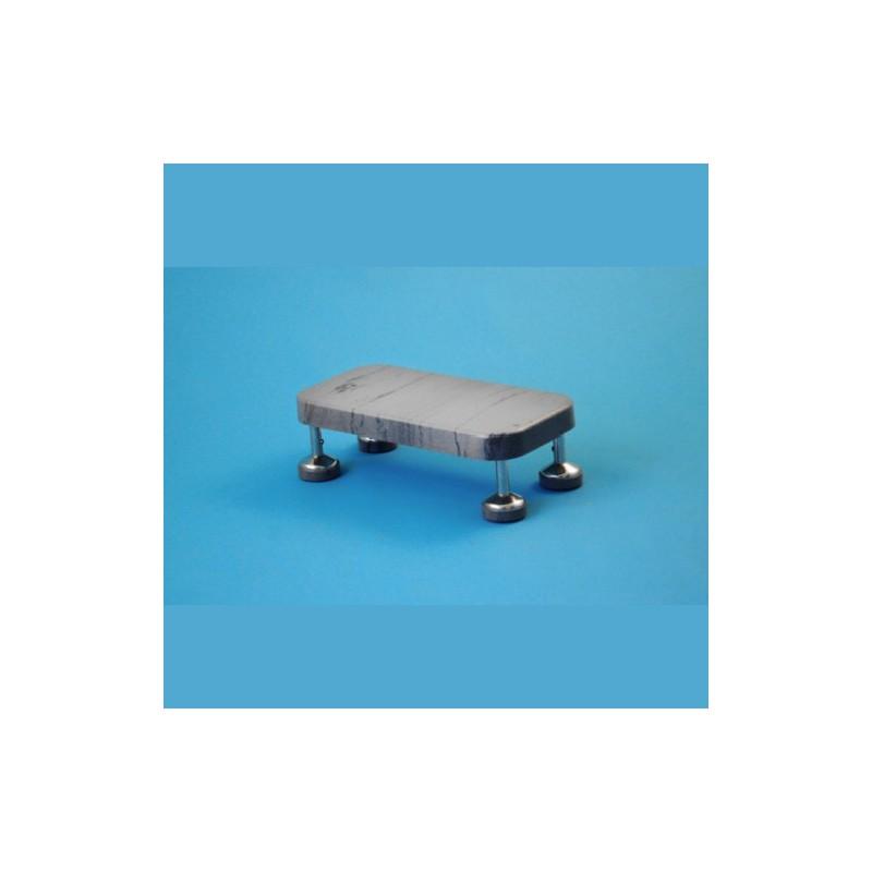 Pojazdný schodík s gumovým stupňom výška 16 cm/20 cm, kostra nerezová, antistatický