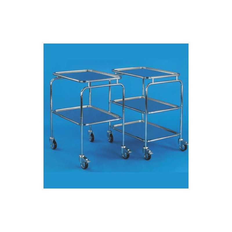 Nerezový vozík bez rukoväte, 2 (3) podnosy