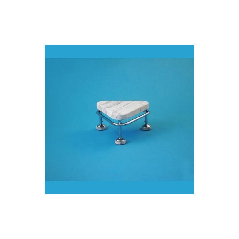 Pojazdná stolička, výška 250 mm, kostra nerezová antistatická